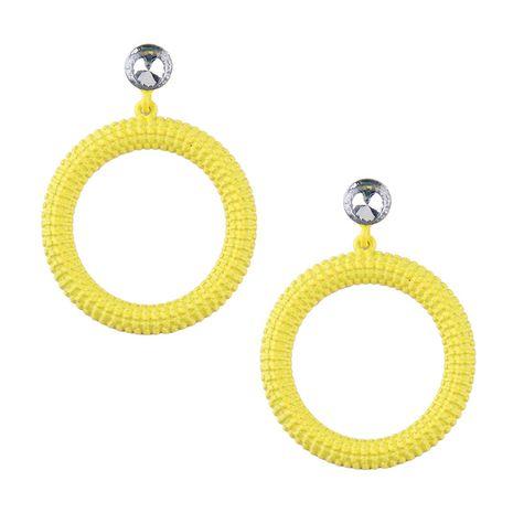 Alloy Korea Geometric earring  (yellow) NHJQ10584-yellow's discount tags