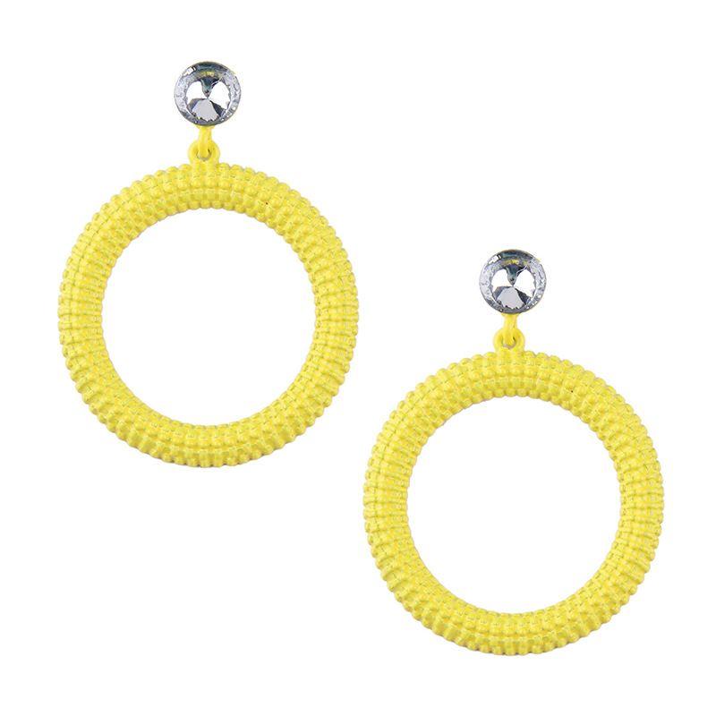 Alloy Korea Geometric earring  yellow NHJQ10584yellow