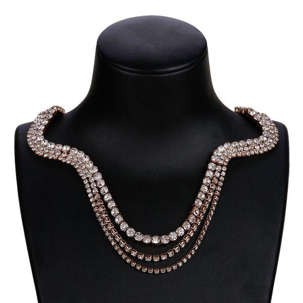 Alloy Fashion Geometric necklace  (KC Alloy) NHJE1714-KC-Alloy