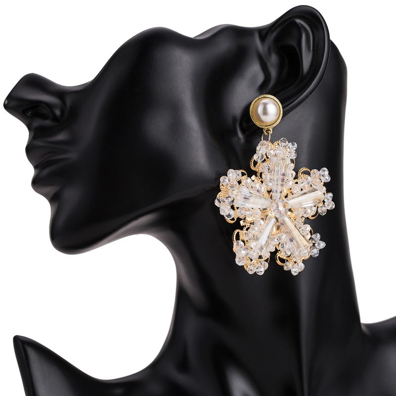 Alloy Fashion Flowers earring  (white) NHJE1752-white