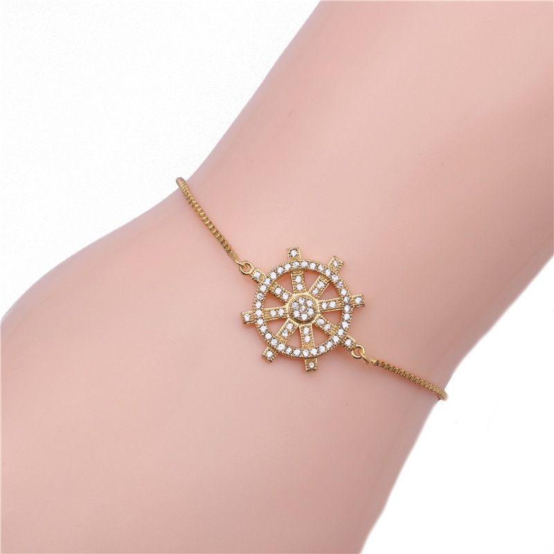 Copper Korea Geometric bracelet  (Alloy) NHYL0029-Alloy
