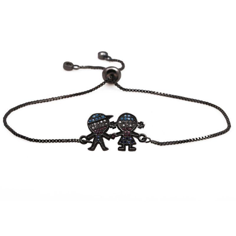 Copper Korea Geometric bracelet  (Gun black) NHYL0048-Gun-black