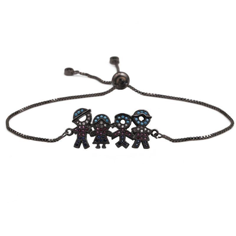 Copper Korea Geometric bracelet  (Gun black) NHYL0083-Gun-black