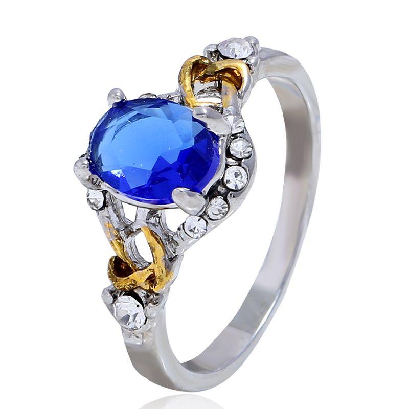 Alloy Korea bolso cesta Ring  (White k blue-18) NHKQ1804-White-k-blue-18