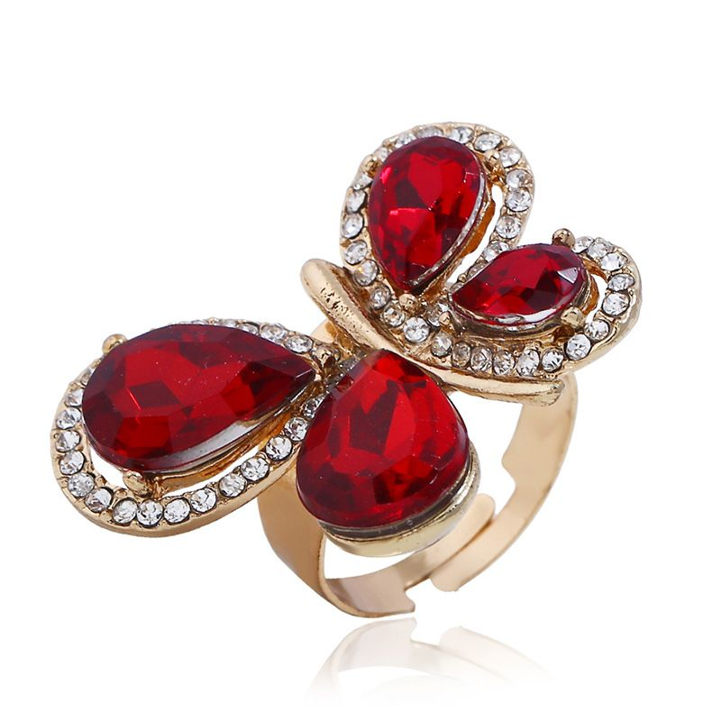 Alloy Korea Bows Ring  (KC alloy red) NHKQ1814-KC-alloy-red