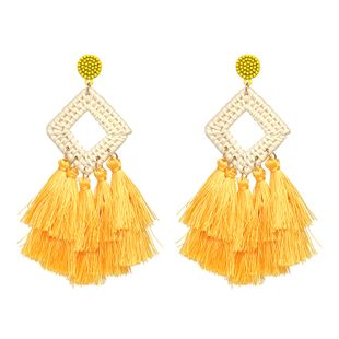 Alloy Bohemia Tassel earring  (yellow) NHJJ5033-yellow's discount tags