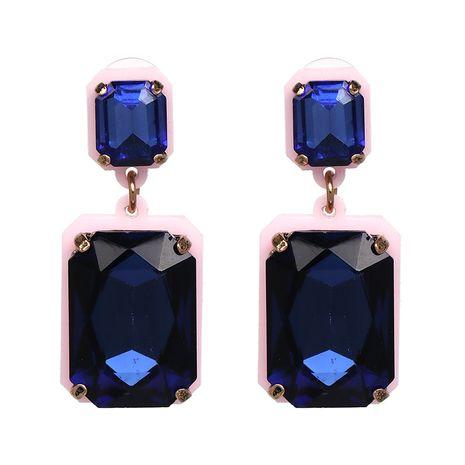 Imitated crystal&CZ Fashion Geometric earring  (blue) NHJJ5038-blue's discount tags