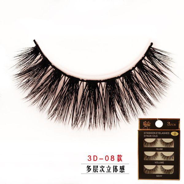 Alloy Fashion  Fake eyelashes  (Photo Color) NHXH0180-Photo-Color