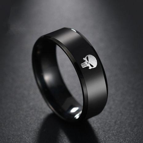 Titanium&Stainless Steel Fashion Geometric Ring  (Black-6) NHHF0898-Black-6's discount tags