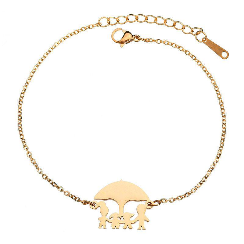 Titanium&Stainless Steel Simple Geometric bracelet  (Steel color) NHHF0897-Steel-color