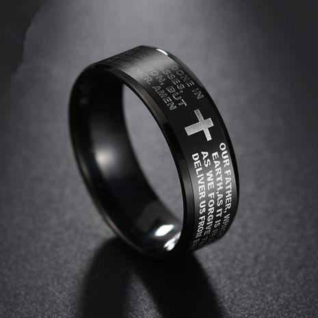 Titanium&Stainless Steel Fashion Geometric Ring  (Black-6) NHHF0911-Black-6's discount tags