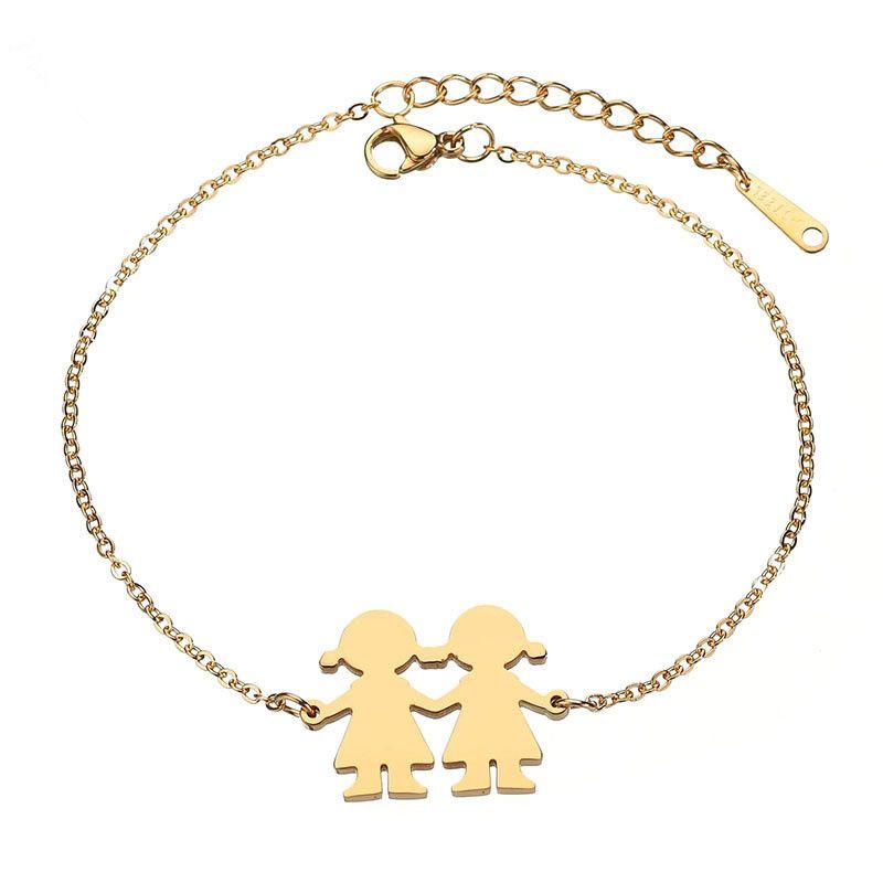 Titanium&Stainless Steel Simple Geometric bracelet  (Steel color) NHHF0920-Steel-color