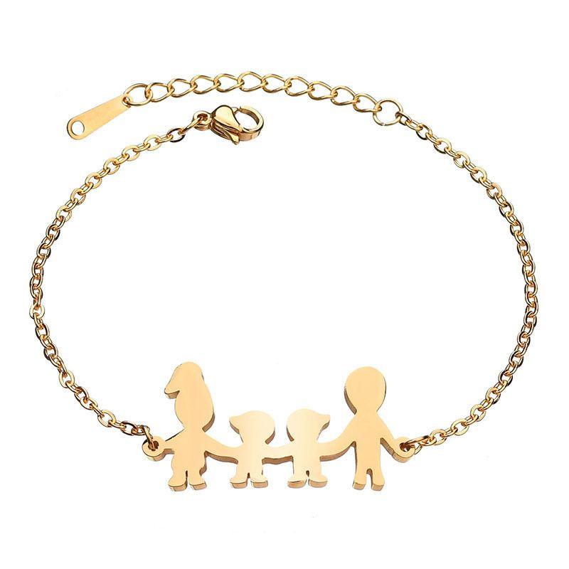 Titanium&Stainless Steel Simple Geometric bracelet  (Steel color) NHHF0922-Steel-color