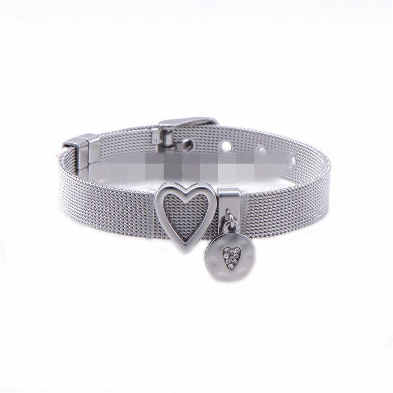 Titanium&Stainless Steel Simple Geometric bracelet  (Steel bracelet) NHSX0292-Steel-bracelet