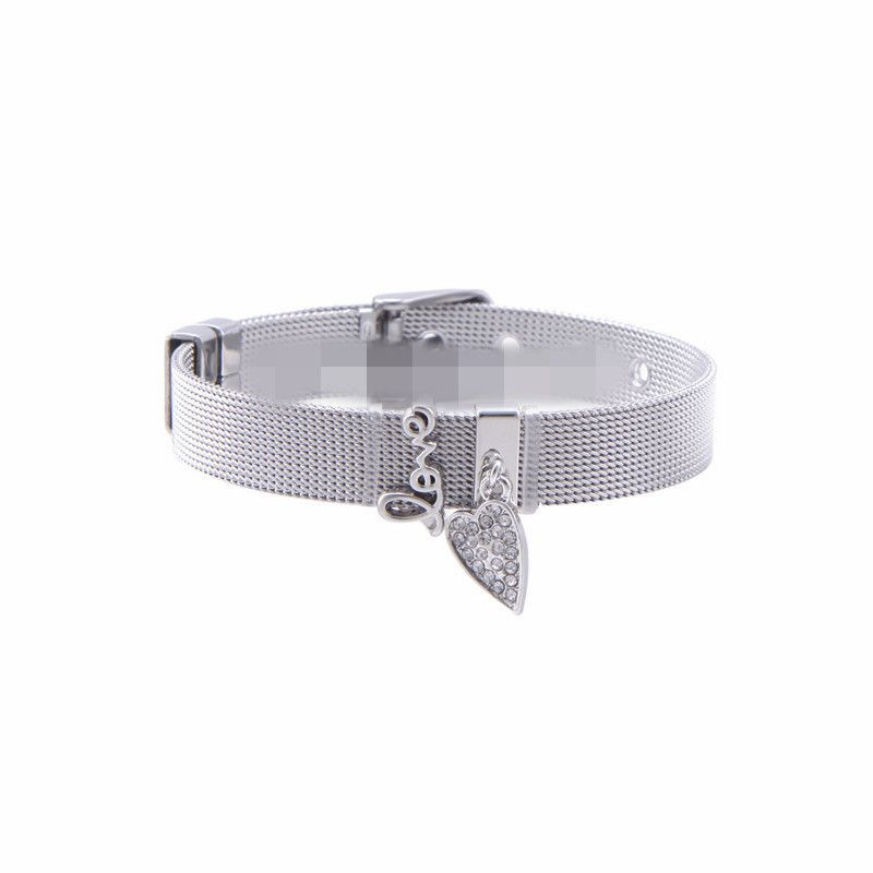 Titanium&Stainless Steel Simple Geometric bracelet  (Steel bracelet) NHSX0293-Steel-bracelet