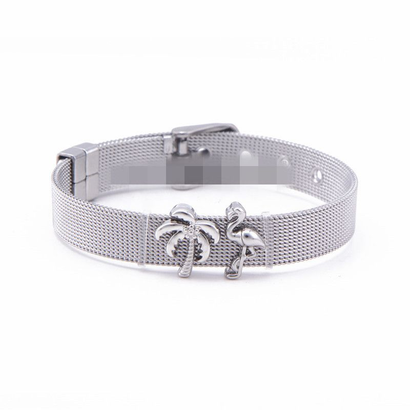 Titanium&Stainless Steel Simple Geometric bracelet  (Steel bracelet) NHSX0298-Steel-bracelet