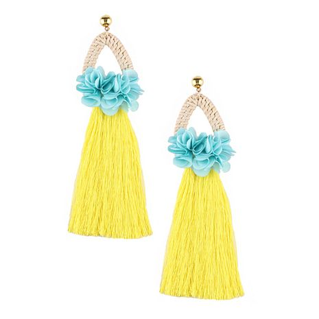 Alloy Korea Flowers earring  (yellow) NHJQ10590-yellow's discount tags