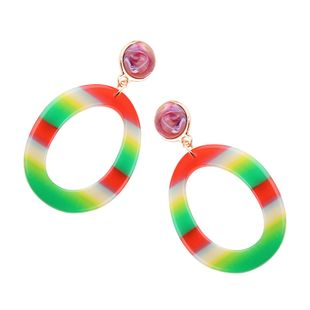 Plastic Korea Geometric earring  (Color 1) NHJQ10591-Color-1's discount tags