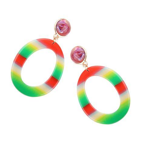 Plastic Korea Geometric earring  (Color 1) NHJQ10591-Color-1's discount tags