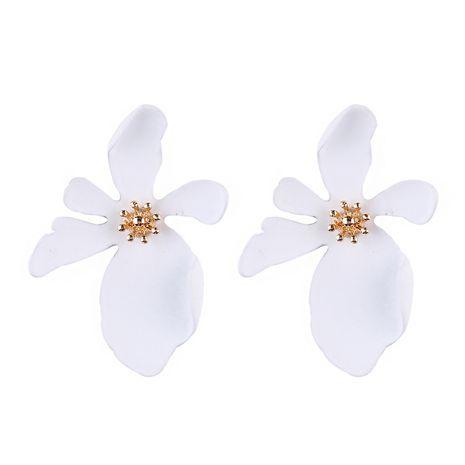 Plastic Korea Flowers earring  (white) NHJQ10593-white's discount tags