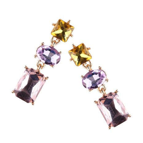 Plastic Fashion Geometric earring  (Color one) NHJQ10600-Color-one's discount tags