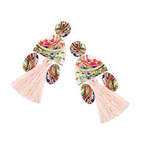 Cloth Fashion Tassel earring  (light pink) NHJQ10607-light-pink's discount tags