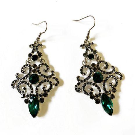 Alloy Fashion  earring  (Green earrings) NHOM0746-Green-earrings's discount tags