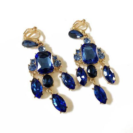 Alloy Fashion  earring  (Blue ear clip) NHOM0747-Blue-ear-clip's discount tags