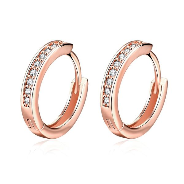 E039-B Free shopping 18K alloy plating earrings Fashion High Quality zircon earrings NHKL6518-B