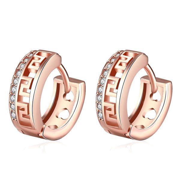 E052-B Free shopping 18K alloy plating earrings Fashion High Quality zircon earrings NHKL6531-B