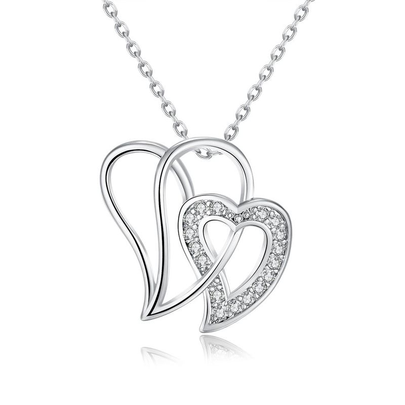 N016-CHigh Quality zircon necklace Fashion Jewelry Free shopping 18K alloy plating necklace NHKL6588-C