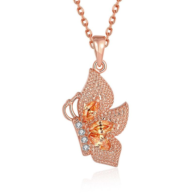 N131-A High Quality zircon necklace Fashion Jewelry Free shopping 18K alloy plating necklace NHKL6693-B