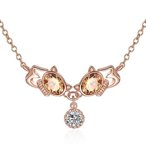 N137-B High Quality zircon necklace Fashion Jewelry Free shopping 18K alloy plating necklace NHKL6699-B