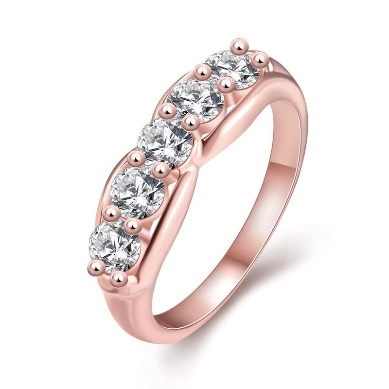 R355-B-8  High Quality Nickle Free Antiallergic New Fashion Jewelry White Plated zircon Ring NHKL7054-B-8