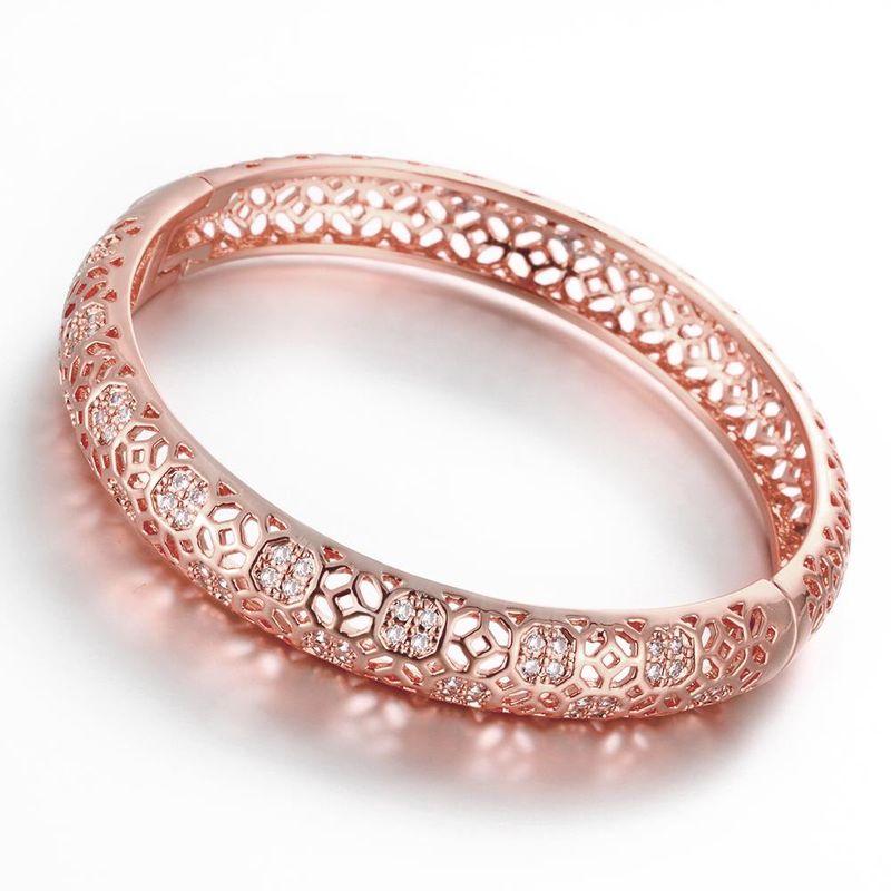 Z033-B Good Quality Nickle Free Antiallergic 2015 New Fashion Jewelry Rose Alloy Bracelets NHKL7226-B