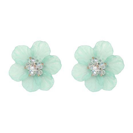 Plastic Fashion Flowers earring  (green) NHJJ4985-green's discount tags