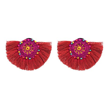 Cloth Fashion Geometric earring  (red) NHJJ4996-red's discount tags