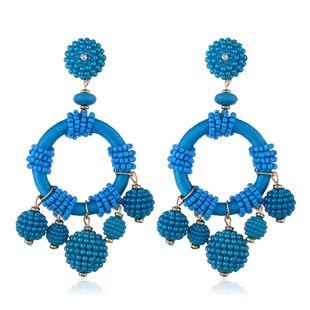 Plastic Fashion Geometric earring  (KC Alloy Lake Blue) NHKQ1771-KC-Alloy-Lake-Blue's discount tags