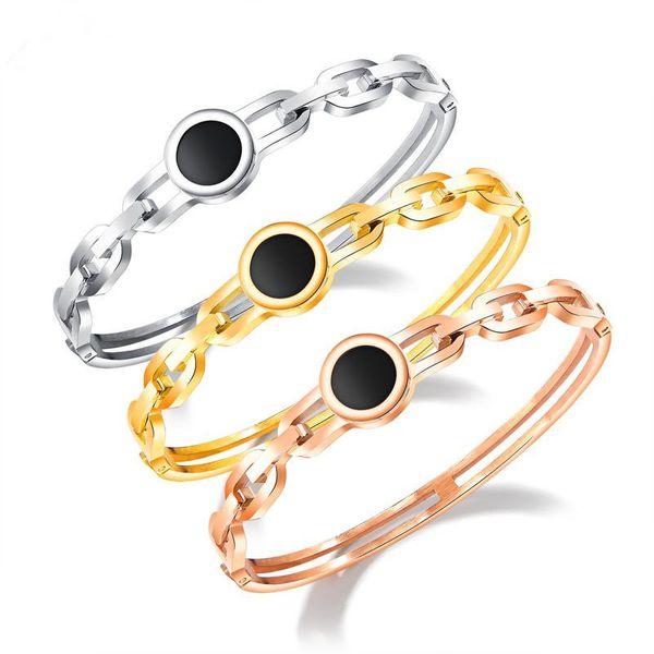 Titanium&Stainless Steel Fashion Geometric bracelet  (Steel models) NHOP2766-Steel-models
