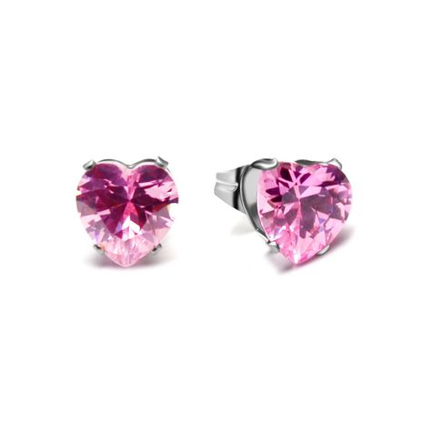 Titanium&Stainless Steel Korea Sweetheart earring  (Pink) NHOK0078-Pink's discount tags