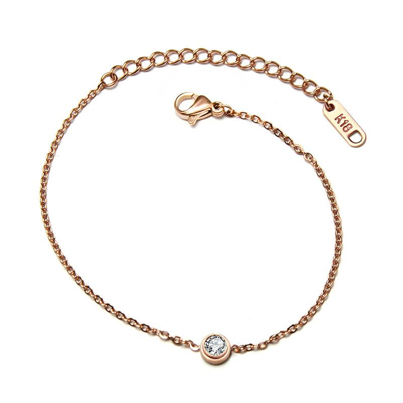 Titanium&Stainless Steel Korea Geometric bracelet  (Rose alloy) NHOK0104-Rose-alloy
