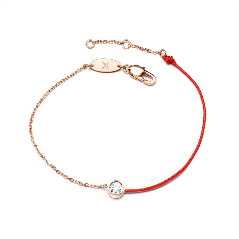 Titanium&Stainless Steel Korea Geometric bracelet  (Rose alloy) NHOK0129-Rose-alloy