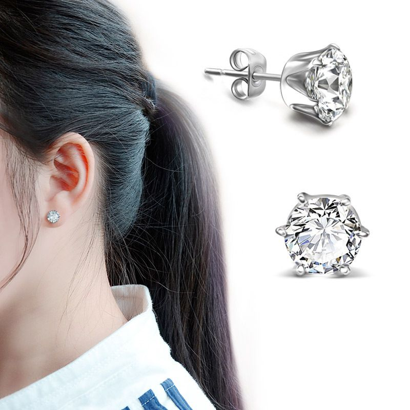 Titanium&Stainless Steel Korea Geometric earring  (Steel earrings) NHOK0151-Steel-earrings