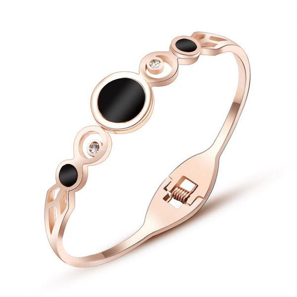 Titanium&Stainless Steel Korea Geometric bracelet  (Rose alloy) NHOK0293-Rose-alloy