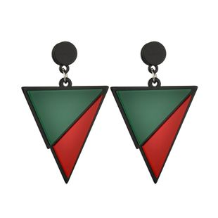 Acrylic Fashion Geometric earring  (Red and green) NHBQ1622-Red-and-green's discount tags