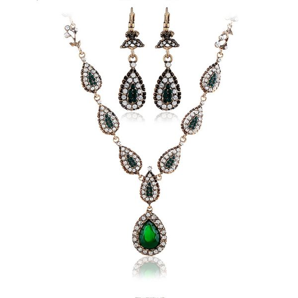Alloy Bohemia  Jewelry Set  (Ancient KC alloy green) NHKQ1818-Ancient-KC-alloy-green