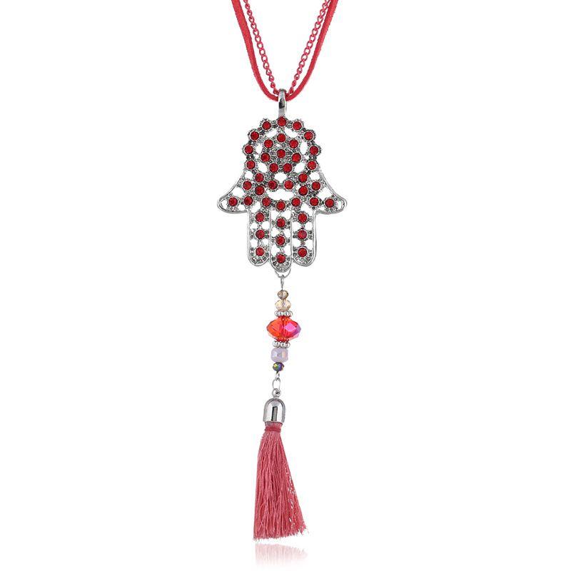 Alloy Korea Tassel necklace  (red) NHPK2081-red