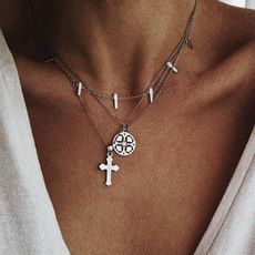 Alloy Simple Cross necklace  (Photo Color) NHGY2359-Photo-Color's discount tags