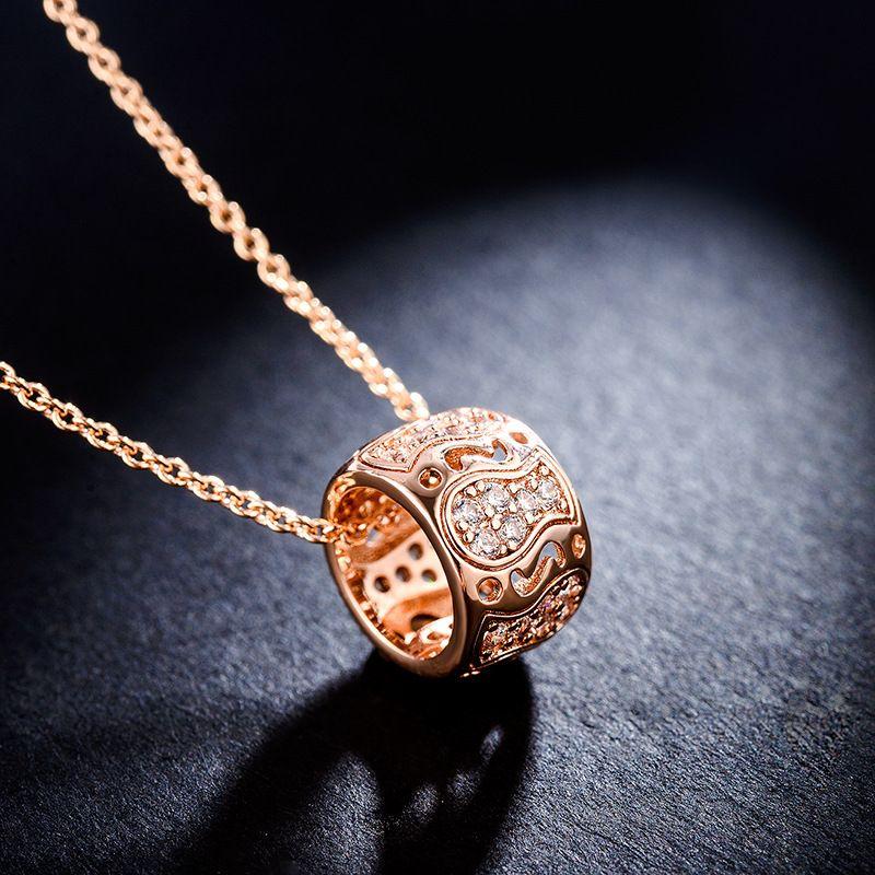 Alloy Fashion Geometric necklace  Rose alloy NHLJ4054Rosealloy