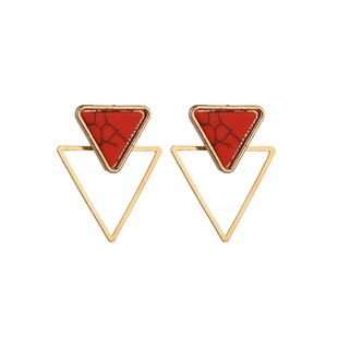 Alloy Simple Geometric earring  (red) NHBQ1654-red's discount tags